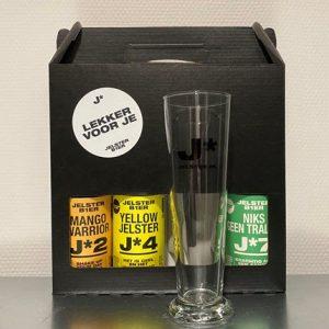 Jelster cadeauverpakking + glas